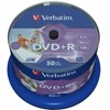 Afbeelding van DVD+R 4.7GB Verbatim 16x Inkjet white Full Surface 50er Cakebox